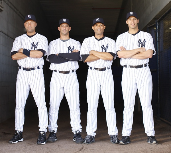 2010 | The Core of 5 Yankee cmapionships: Derek Jeter, Jorge Posada, Mariano Rivera & Andy Pettite (Sports Illustrated)