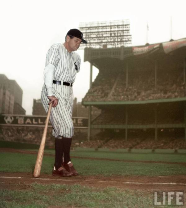 6/13/1948 | Ruth's last appearance at Yankee Stadium (Life)