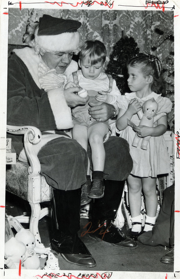 Babe Ruth plays Santa Clause